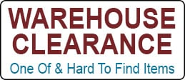 Click here to shop our Warehouse clearance sale with one of a kind and hard to find items