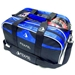 Path Double Tote Plus Clear Top Black/Royal Blue