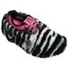 Fun Shoe Covers Fuzzy Zebra