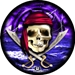 Pirate Skull w Ship Ball Viz-A-Ball
