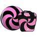 Spiral Pink/Black Viz-A-Ball w/ Bag
